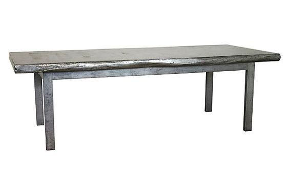 "Stannis 100"" Live Dining Table, Gray on OneKingsLane.com"