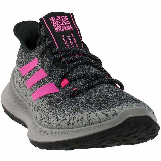 adidas Sensebounce Casual Running Shoes Black Womens - Adidas Shoes for Women - Ideas of Adidas Shoes for Women #AdidasShoesforWomen