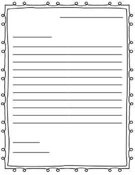 Free letter writing outline paper. Great for a friendly letter!