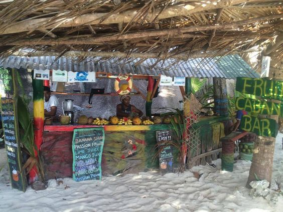 Fruit Cabana bar on La Digue Island! Place to visit whilst on a Day cycling Trip organised by our resort.