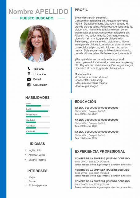 50 Modelos De Curriculum Vitae Para Descargar Gratis En Word Formato De Curriculum Vitae Formato Curriculum Plantillas De Curriculum Vitae Para Word