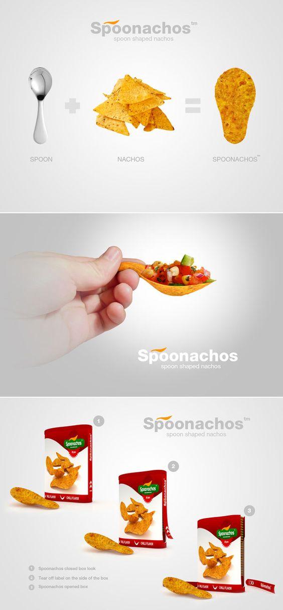 Spoonachosô - Spoon Shaped Nachos by Denis Bostandzic