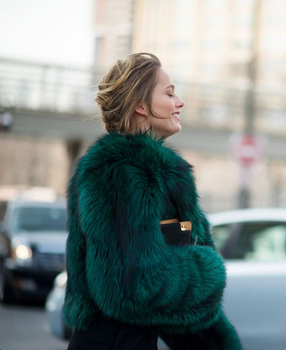 #petrol #fur. i hope it's faux fur, but i dont know it for sure.: