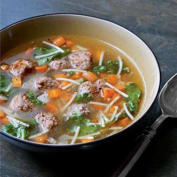Italian meatball soup, Meatball soup and Italian meatballs on ...