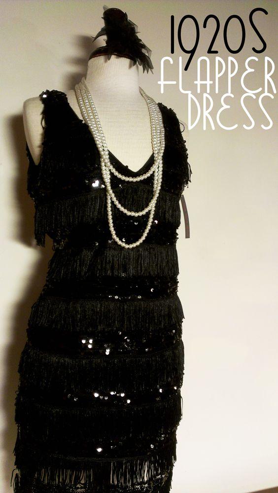 Black Flapper Dress #littleblackdress #1920s