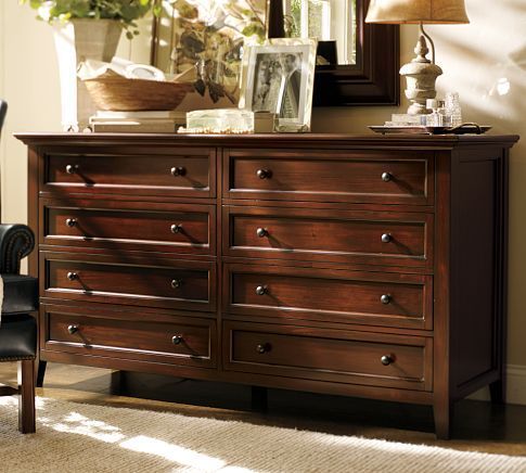Hudson Extra Wide Dresser, Mahogany Stain | Wide Dresser, Dresser And Barn