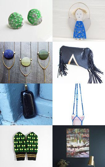 Blue and green by Elsa and Babis on Etsy--Pinned with TreasuryPin.com
