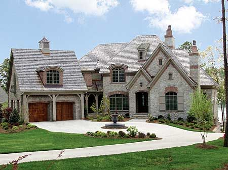 French country natural stones and country on pinterest for French country brick exterior