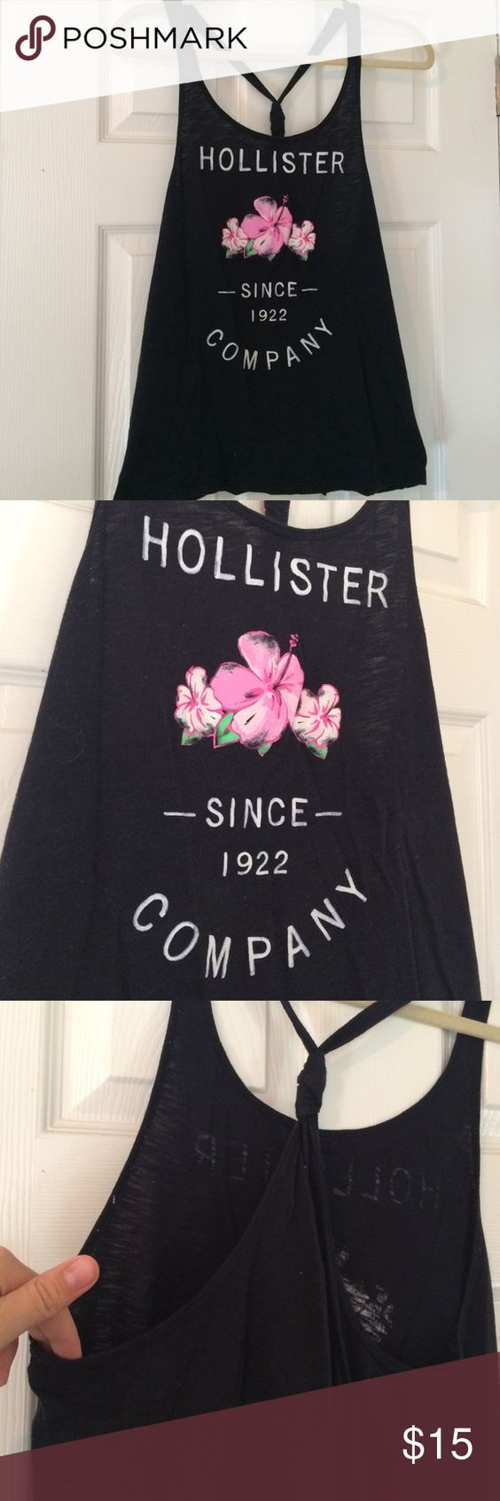 Knot-Backed Hollister Tank Top Super flowy and good for runs or lounging around. Hollister Tops Tank Tops