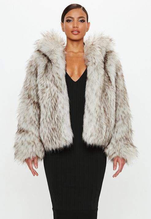 Faux shearling coat Cream Ladies