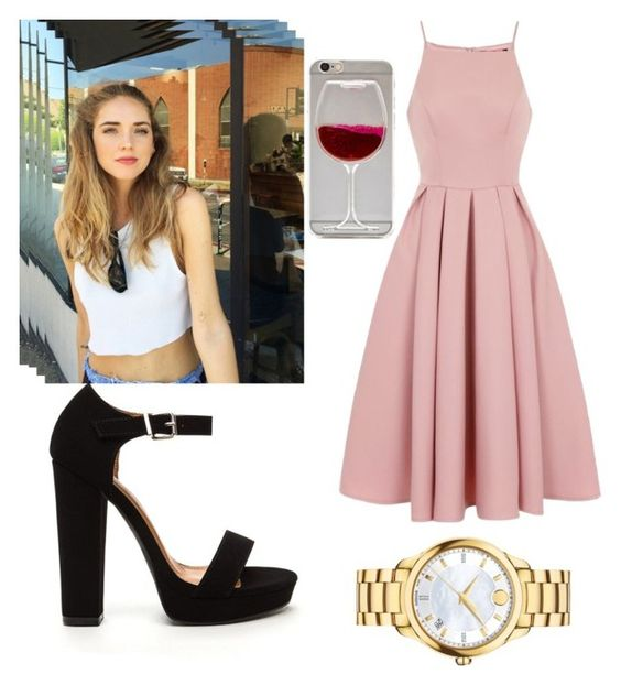 """""""Untitled #4"""" by anapaulaalid ❤ liked on Polyvore featuring Chi Chi and Movado"""