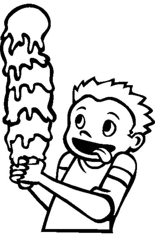 Ice Cream Cone Coloring Page | Cookie | Pinterest | Ice ...
