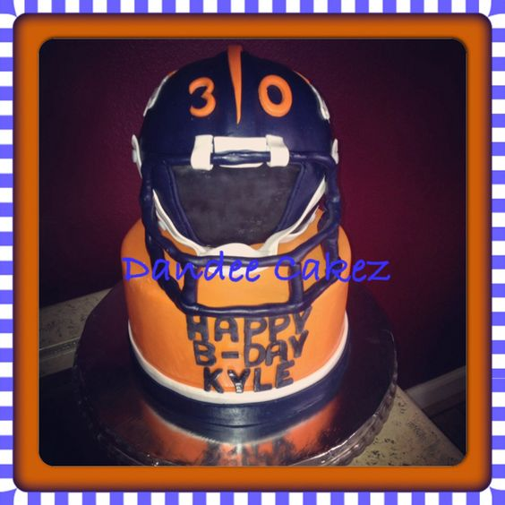 Denver Broncos Custom Cake