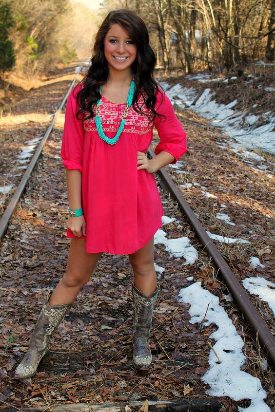 Judy Tunic Dress - Hot Pink $46.99 southernfriedchics  Fashion ...