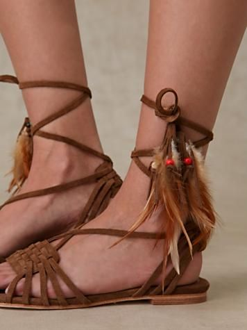 feather sandals from free people