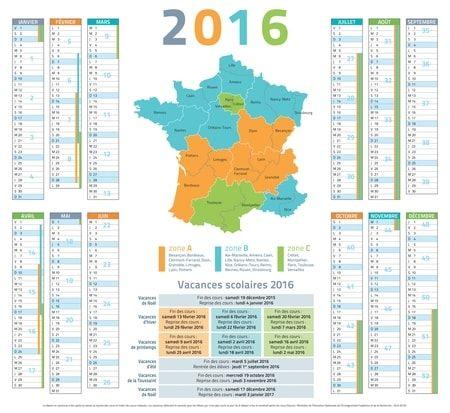 Vacances scolaires 2016 - 2017 - 2018 : le calendrier complet - Linternaute