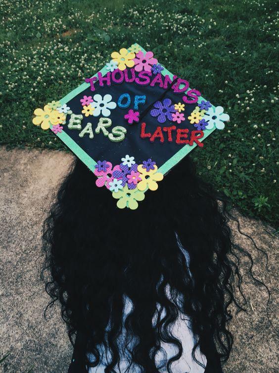 """Thousands of tears later"" graduation cap #gradcap"