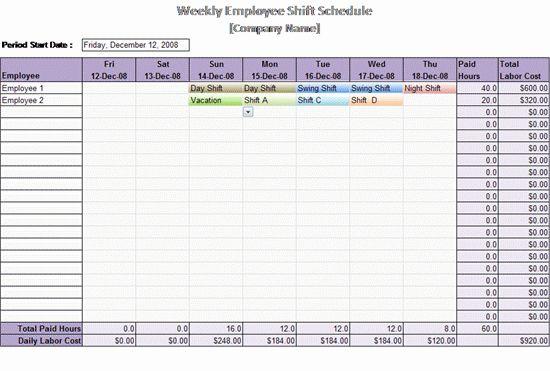 Excel Work Schedule Template Elegant Work Schedule Template Weekly Employee Shift Schedule Weekly Schedule Template Excel Shift Schedule Schedule Template