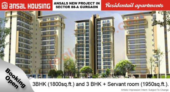 Ansal Housing New Projects Sector 88A Gurgaon New Luxury Homes is the very best projects in Gurgaon Ansal Group Offering 3BHK apartments of sizes range from 1800 - 1950 Sq.Ft. Sector 88A Gurgaon with great features and specification Location Map, Amenities