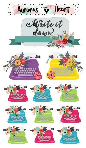 A little bohemian flair in your planner. Pretty every design up with these little boho planner stickers!  One sheet of 12 cute little floral typewriter stickers…