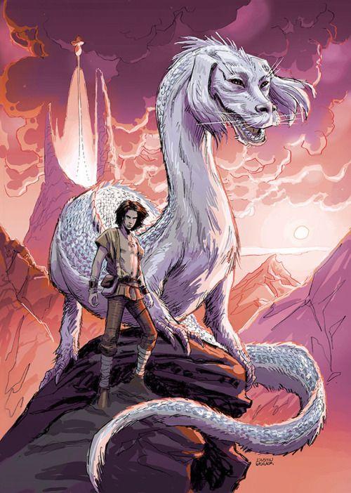 Atreyu Falkor Dustin Weaver The Neverending Story