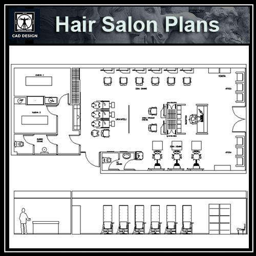 Hair Salon Blocks Plans Download Autocad Blocks Drawings Details 3d Psd Block Plan Hair Salon How To Plan