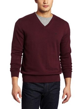 French Connection Men's Auderly Cotton V-neck Sweater, Rob.