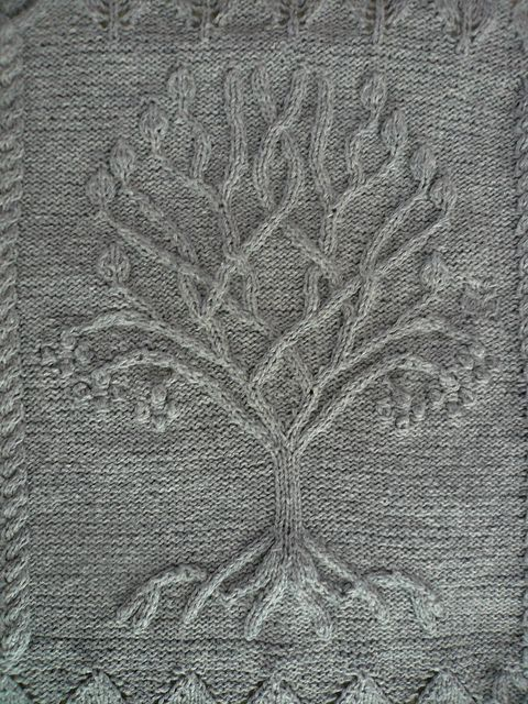 Free Knitting Pattern For Tree Of Life Baby Blanket : Ravelry: Project Gallery for Tree pattern by Ariel Barton - free knitting pat...