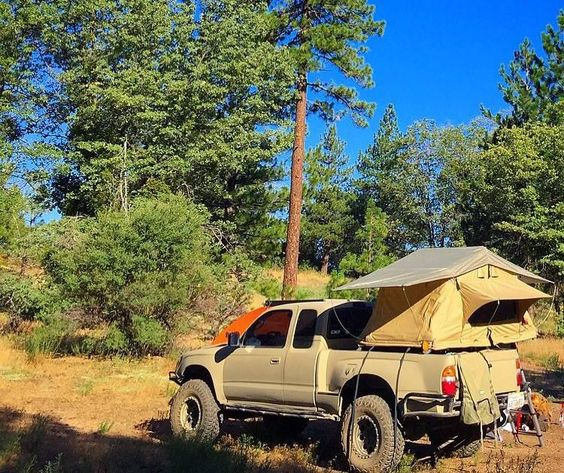 Nice pickup bed Tent Topped example