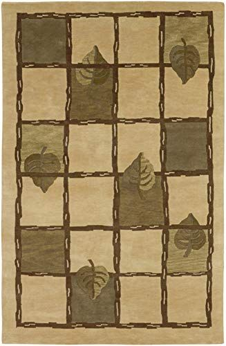 Thiells Contemporary Abstract 8 X 11 Rectangle 100 Semi Worsted New Zealand Wool Dark Purple Mauve Area Rug Wool Area Rugs Beige Area Rugs Floral Rug
