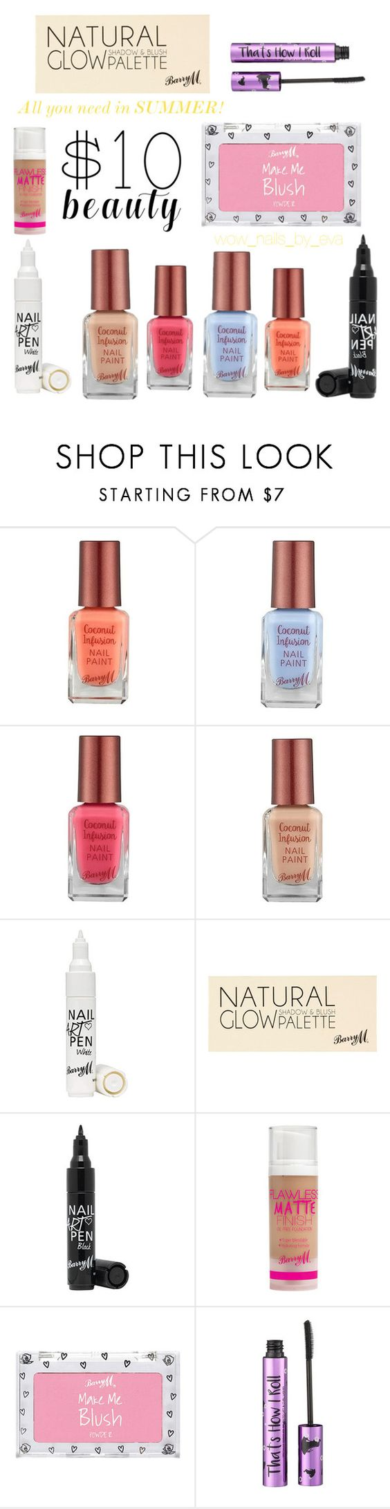 """Untitled #161"" by wownails on Polyvore featuring Barry M, River Island and 10dollarbeauty"