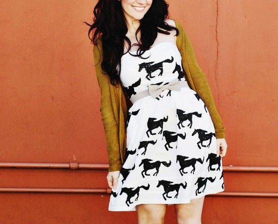 DIY Pony stamp dress