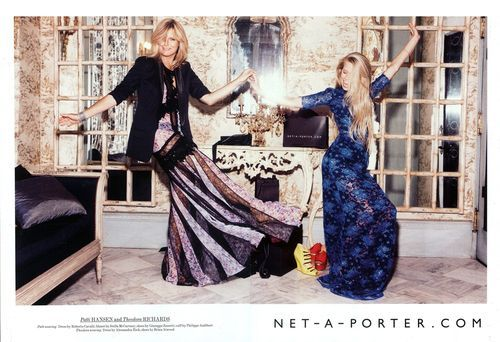 Patti Hansen and daughter, Theodora Richards for Net-a-Porter.
