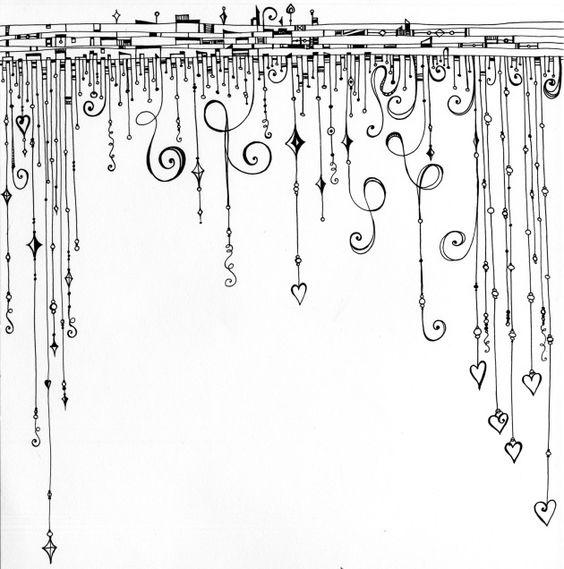 Dangles, by Joanne Fink of Zenspirations  . . .  ღTrish W ~ http://www.pinterest.com/trishw/  . . .  #doodle