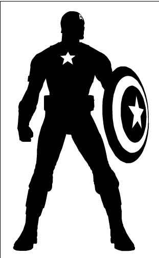 Captain America Silhouette By Ba ru ga Vinyl Ideas