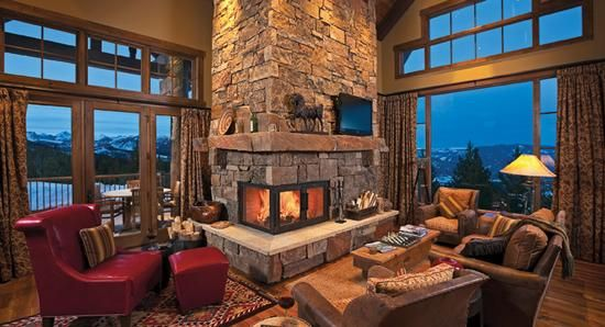 Corner Fireplace With 2 Sides HOME ACCESSORIES 1