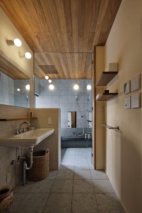 Oyama House 洗面所 浴室 在来工法 家