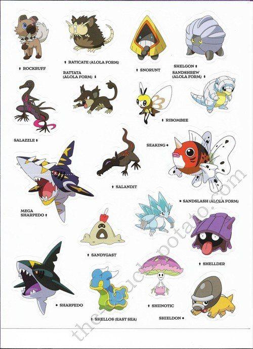 Pokemon Alola Stickers 7001 Pokemon Alola Pokemon Pokemon Pictures