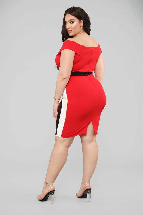 Every Which Way Midi Dress - Red/Combo