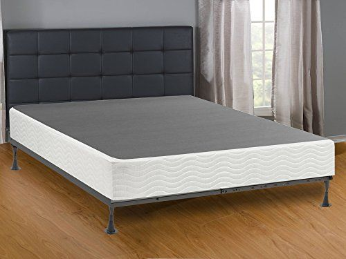 Mattress Solution Queen Size Metal Box Spring With 6 Support Legs