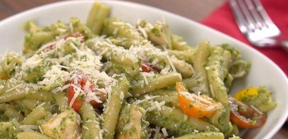 avocado pesto chicken pasta (make with zoodles)