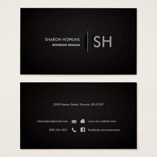 Modern Elegant Simple Plain Black Sleek Business Card Zazzle Com
