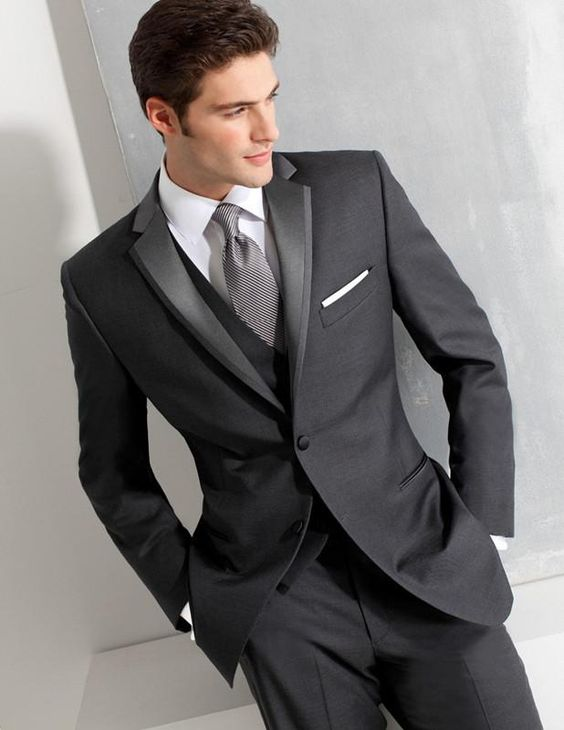 Cheap groom suit 2016 Groom Tuxedos Two Button wedding suits for