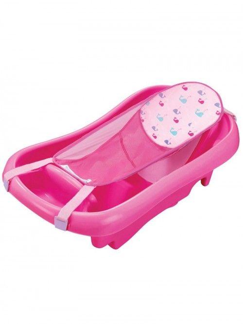 Bañera Con Soporte Rosado The First Years Asiento De Baño Para Bebés Tinas De Baño De Bebé Bañera Bebe