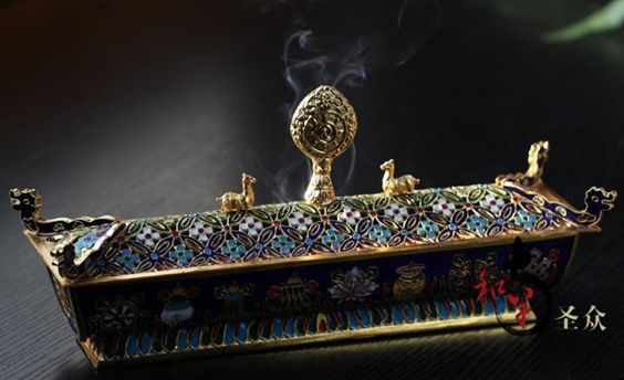Exquisite incense holder from India