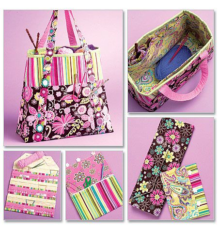 McCall's Pattern 5722  Knitting Bag and Organizers