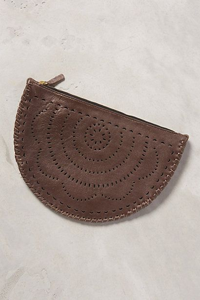 Mexicana Moon Leather Pouch - anthropologie.com