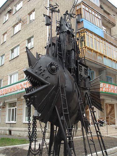 Street sculpture, Omsk