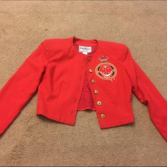 Vintage crop jacket Vintage red crop jacket super cute Jackets & Coats Blazers