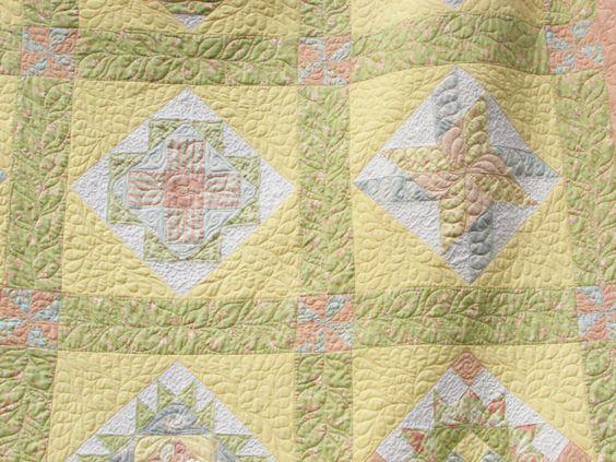 Easter Egg Quilt details